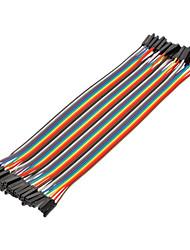 40pin 1P-1P Vrouw tot Vrouw Dupont Line Kleurrijke Dupont Wire (20CM)