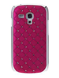 Diamante Pattern Festplatte zurück Fall Deckung für Samsung Galaxy S3 I8190 Mini
