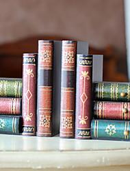 """6 """"Rétro Book Type 1 paire Serre-livres"""