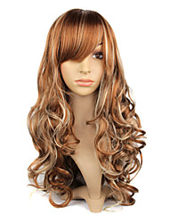 Capless Synthetic Long Mixed Color Curly Hair Wig