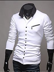 KICAI Мужская Личная молнии Тонкий трикотаж (белый)