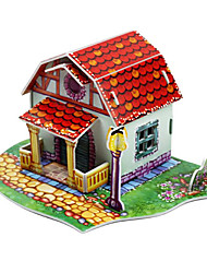 3D Lovely Red House-13 Pieces