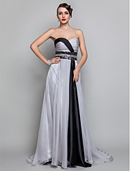 TS Couture Formal Evening Military Ball Dress - Open Back A-line Sweetheart Floor-length Chiffon withCrystal Detailing Criss Cross