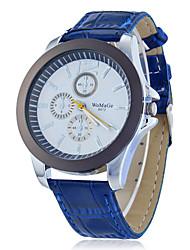 Round Dial Pu cuarzo de la venda reloj del análogo de la Mujer (colores surtidos)