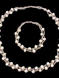 Schmuck-Set Damen Jubiläum / Hochzeit / Geburtstag / Geschenk / Party / Besondere Anlässe Schmuck-Set Perle Halsketten / Armbänder