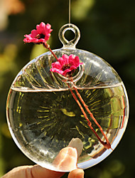 Table Centerpieces Flat Ball Shaped Hanging Glass Vase  Table Deocrations