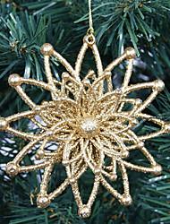 1PCS 12cm Glitter goldene hohle Blume Weihnachtsdekoration Weihnachtsbaum Ornament