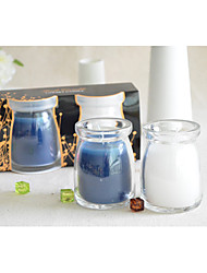 "3""H Pudding Style Votive Jar Candle With Gift Box 2pcs Set(Color Sent Randomly)"