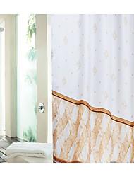 Cortina de chuveiro de poliéster marrom 2 tamanhos disponíveis