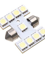 9 5050 SMD LED 31mm Intérieur de voiture de feston de dôme blanc Ampoule