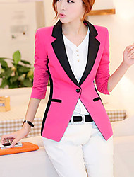 Women's Coats & Jackets , Cotton Blend Casual QSYR