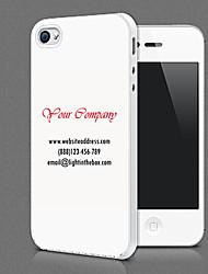 Presente relativo à promoção do projeto de cartão personalizado caso de volta para o iPhone 4/4s (cores sortidas, comece a partir 100pcs)