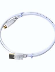 Ульт-0313 Позолоченный USB3.0 утра до мини-USB 10-контактный разъем кабеля для передачи данных-белый (1 м)