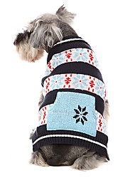 Dog Sweater Red / Blue Dog Clothes Winter Snowflake