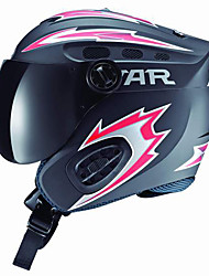 Estrella exterior 54-62cm Circunferencia de la cabeza Casco de esquí con la lente