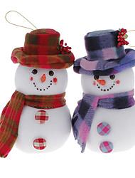 Poids léger 20cm Hatted bonhomme de neige Décoration de Noël décorations de noël (modèle aléatoire)