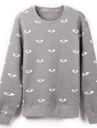 Men's Eyes Print Casual Hoodie T-shirt