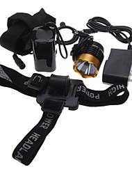 Luces para bicicleta , Luces Frontales / Linternas de Cabeza / Luces para bicicleta - 3 Modo Lumens Recargable 18650 Batería
