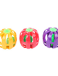 Plastic Pumpkin Style with Ball Ring Toy for Pets Cats (Random Color)