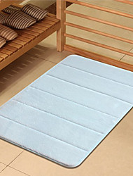 Bath Mat Memory Foam Light Blue 16x24""