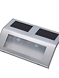 Cool White Light LED Solar Powered Stairway Light Lamp Pathway Step Wall Mounted Stairs Stainless Steel