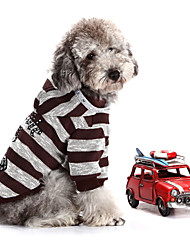 Dog Sweater / Hoodie Brown Dog Clothes Winter Stripe / Sequins