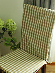 """Coussin de chaise, Polyester 17 """"* 22"""", Vichy"""