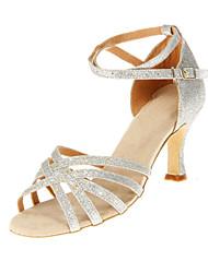 Women's Sparking Glitter Upper Dance Shoes Customizable