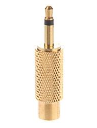 Metal 3.5mm Mono Plug a RCA Adaptador chapado en oro