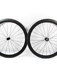 Farsports-700c carretera 50mm Full Carbon Tubular Ruedas bicicleta carretera