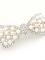 Sweet Style Pearl Bowknot Barrete