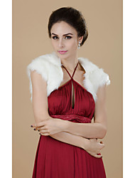 Fur Wraps / Wedding  Wraps Shrugs Short Sleeve Faux Fur White Wedding / Party/Evening 30cm