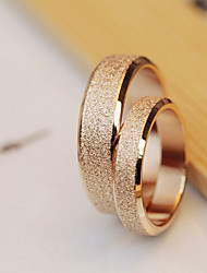Alta qualità d'acciaio di titanio oro Dull coppia polacca Fedi