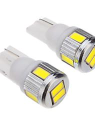 T10 3W 6x5730SMD 200-230LM 6000-6500K ampoule blanche pour la voiture (12V) LED