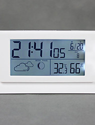 "6.25 ""LED Blanc alarme Weather Clock"