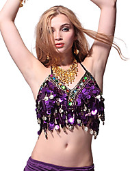 Dancewear Cotton Belly Dance Top With Coins For Ladies(More Colors)