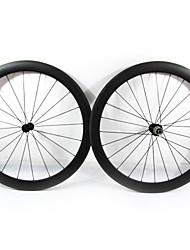 Farsports-700c carretera 50mm Full Carbon Tubular Carretera Ruedas de bicicletas
