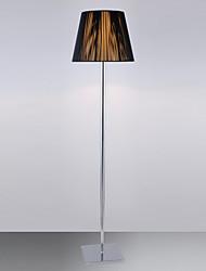 Lámpara de pie moderna con Brown Pantalla de tela