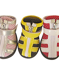 Lovely Net Layer Magic Tape Zipper Shoes for Pets Dogs (Assorted Colors, Sizes)