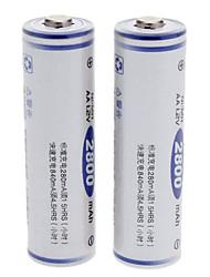 FB 2PCS 2800mAh Rechargeable AA Ni-MH Batteries White(2pcs)
