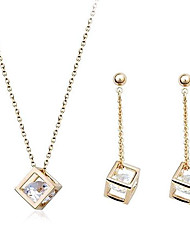 Sweet Multicolor Alloy (Includes Pendant Necklace&Drop Earrings)Jewelry Set(Golden And Silver)