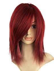 Capless Synthetic Reddish Golden Brown Color Straight Party Wig