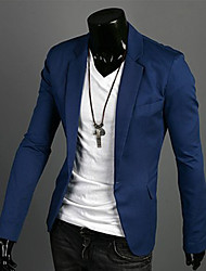 VSKA Men's One Button Cotton Suit
