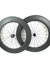 Farsports-700c carretera 88mm Full Carbon Tubular Ruedas bicicleta carretera
