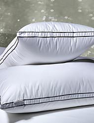 Хлопок 100% высококачественный мягкий белой подушке Кровать