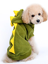 Dog Hoodie / Clothes/Clothing Green Winter Animal
