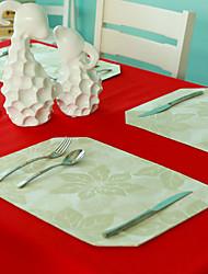 """Beige Set, Polyester/Floral/12 """"* 18"""", série de Noël"""