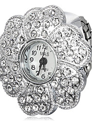 Women's Wintersweet Shaped Silver Alloy Quartz Ring Watch Cool Watches Unique Watches