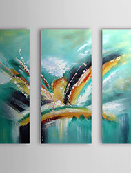 Hand Painted Oil Painting Abstract Hummingbird with Stretched Frame Set of 3