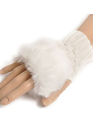 Wrist Length Half Finger Glove Wool General Purposes & Work Gloves Spring / Fall / Winter